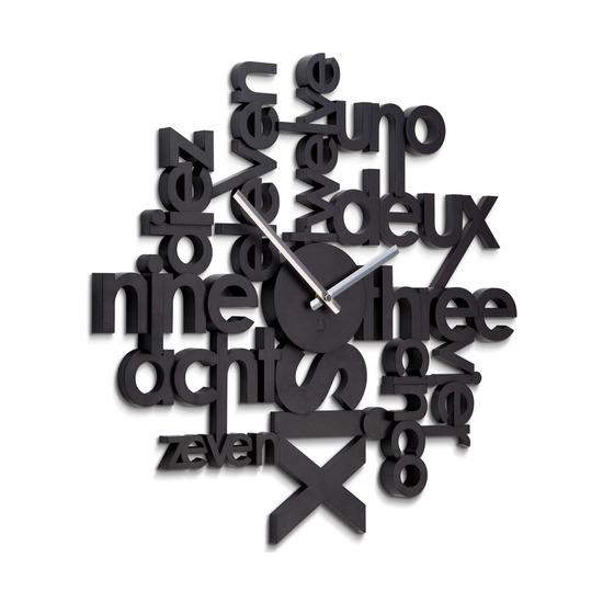 Часы настенные Lingua, черные