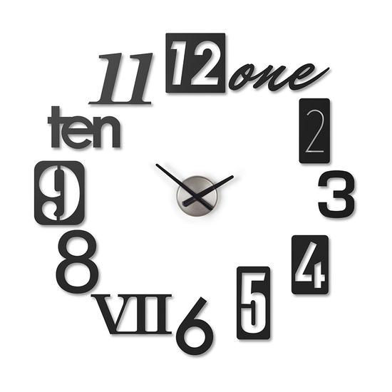 Часы настенные Numbra, черные
