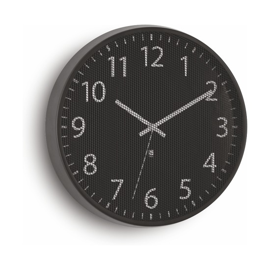 Часы настенные Perftime, черные