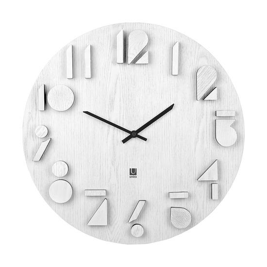 Часы настенные Shadow, белый