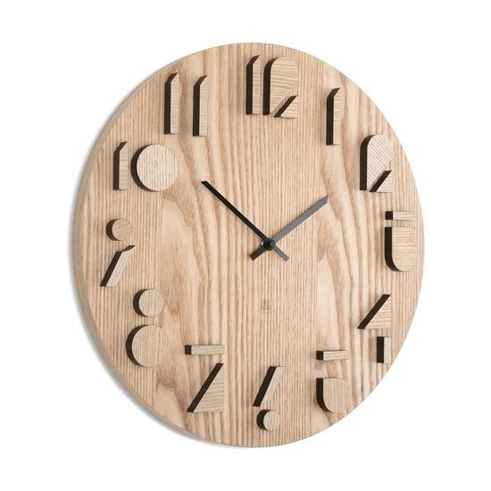 Часы настенные Shadow, натуральное дерево