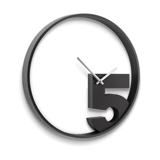 Часы настенные Take 5, черные
