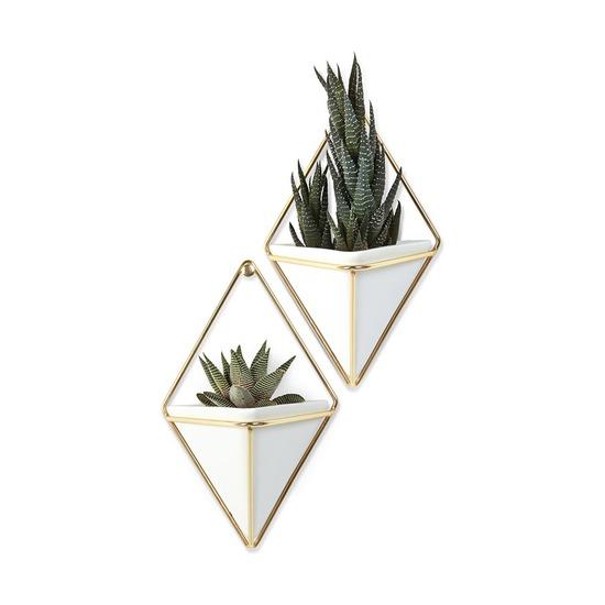 Декор для стен Trigg малый, белый-латунь