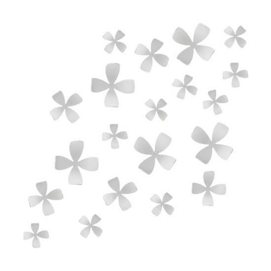 Декор для стен Wallflower, 25 элементов, белый