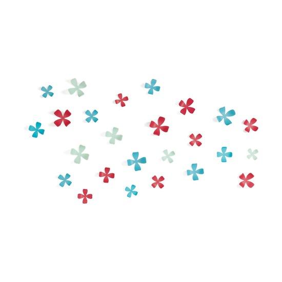 Декор для стен Wallflower, 25 элементов, разноцветный
