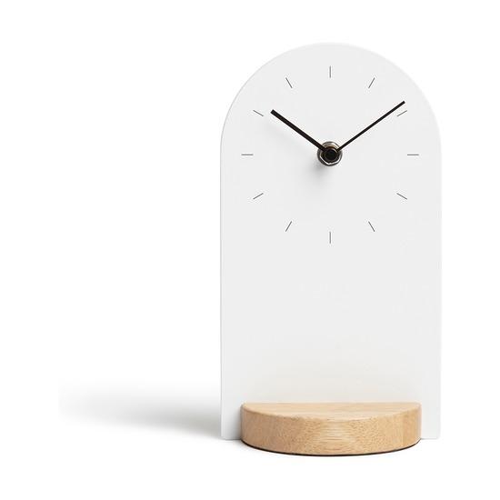 Часы настольные Sometime, белый-натуральное дерево