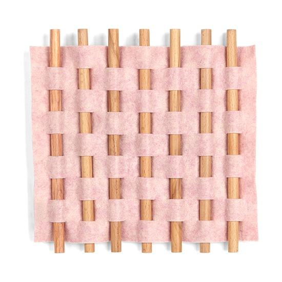 Декор для стен Looma 13x12, розовый