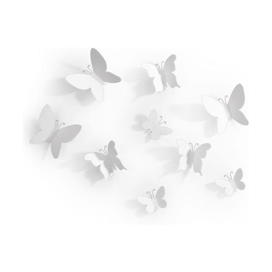 Декор для стен Mariposa, 9 элементов, белый
