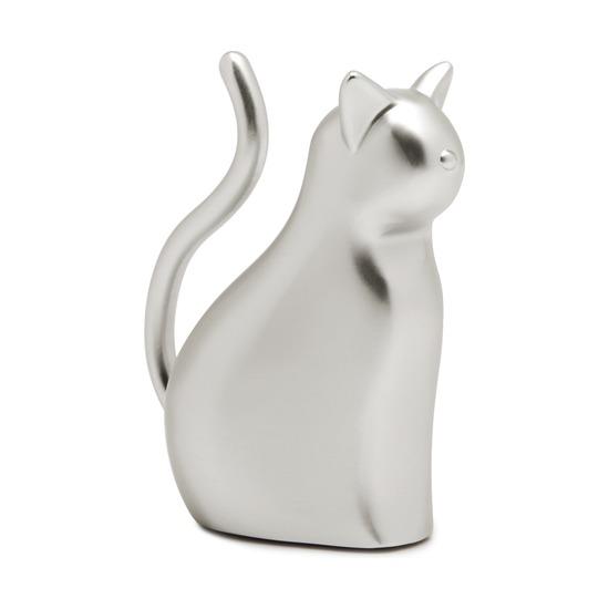 Подставка для колец Anigram, кот, никель