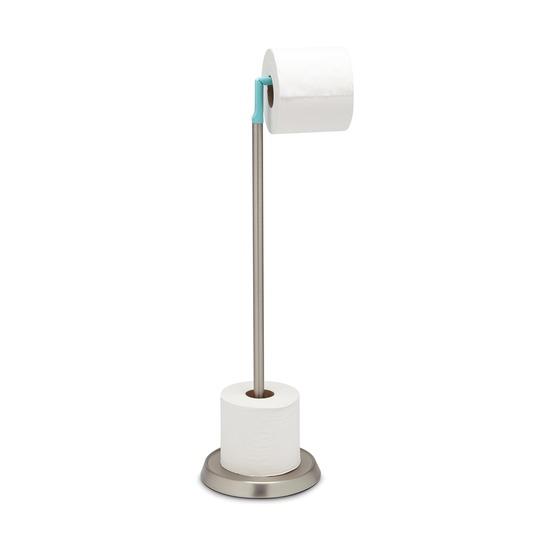 Держатель для туалетной бумаги Ply, голубой-никель