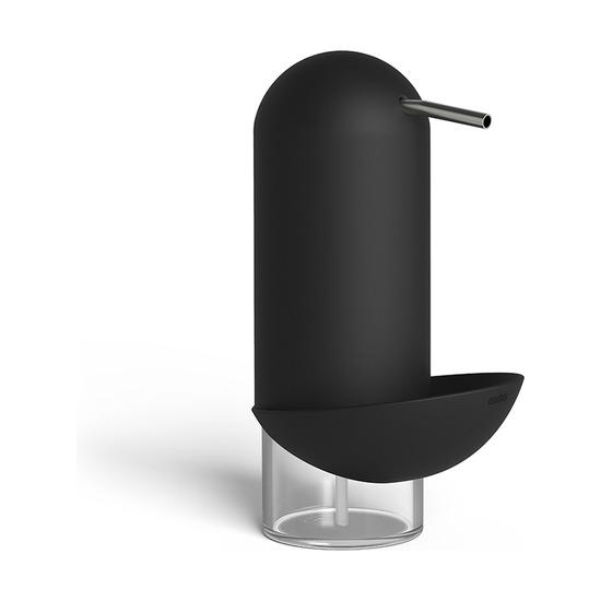 Диспенсер для мыла с подставкой для губки Penguin, чёрный