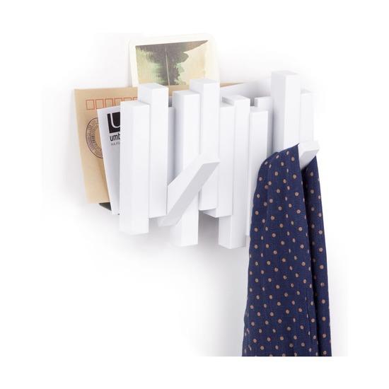 Газетница-вешалка Sticks, белая
