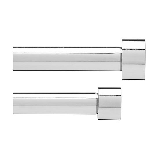 Карниз двойной Cappa (183-366 см), хром