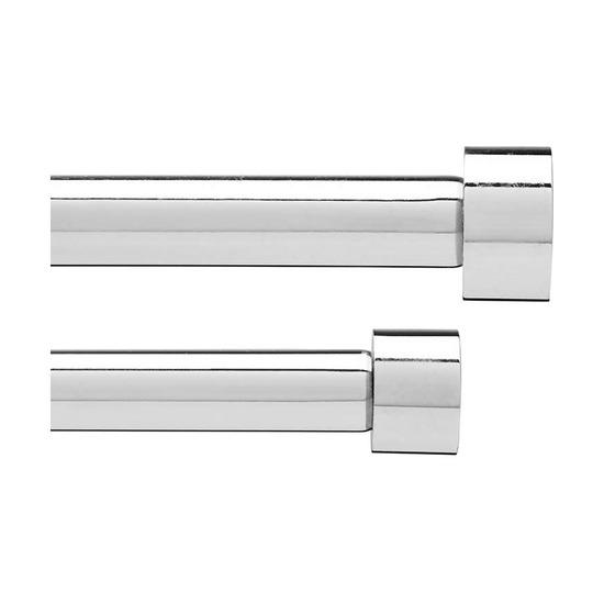 Карниз двойной Cappa (91-183 см), хром