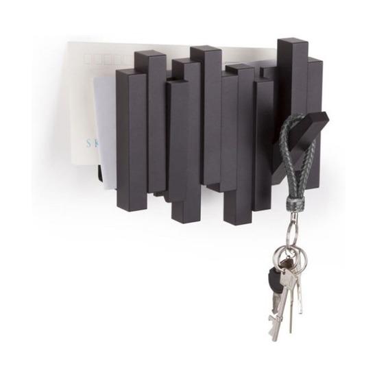 Газетница-вешалка Sticks, черная