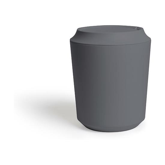 Корзина для мусора Corsa с крышкой, тёмно-серая