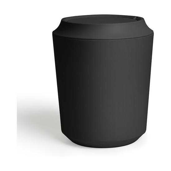 Корзина для мусора Kera с крышкой, чёрная