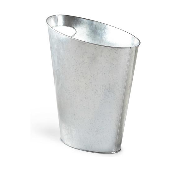 Контейнер мусорный Skinny, металлик