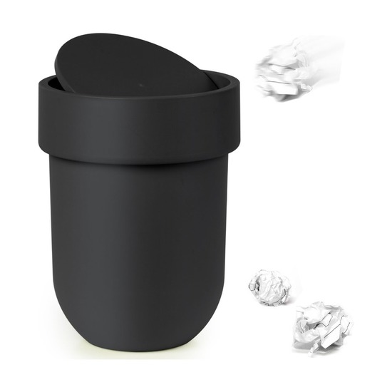 Контейнер мусорный Touch, с крышкой черный