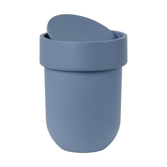 Контейнер мусорный Touch, с крышкой дымчато-синий
