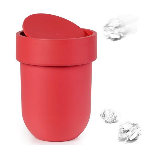 Контейнер мусорный Touch, с крышкой красный