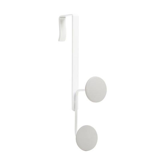 Крючок двойной надверный Yook, белый-серый