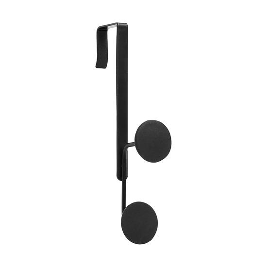 Крючок двойной надверный  Yook, чёрный