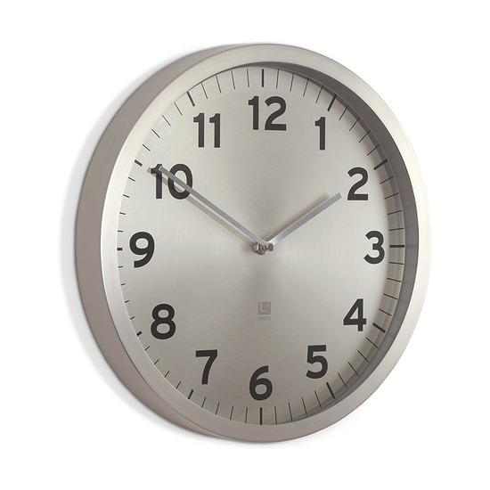 Настенные часы Anytime, никель