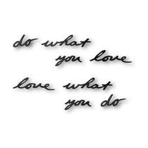 Надпись декоративная Do what you love настенная, черная