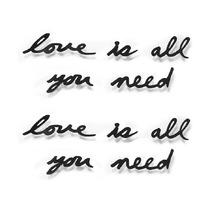 Надпись декоративная Love is all you need настенная, черная