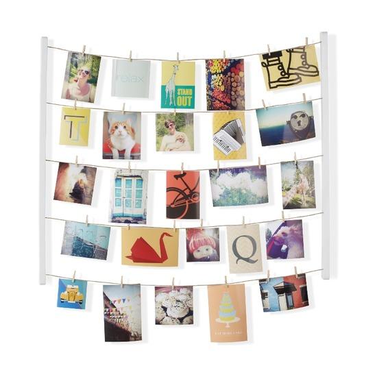 Фотопанно Hangit с зажимами для 40 фото, белое