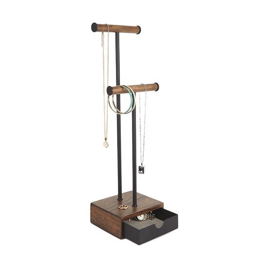 Органайзер для украшений Pillar, высокий, чёрный-орех