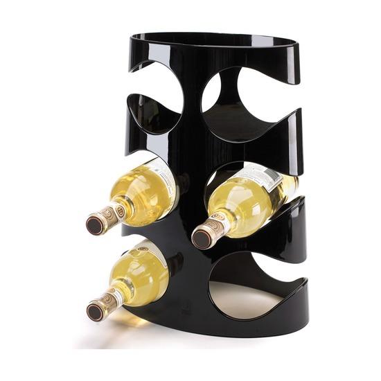 Подставка для винных бутылок Grapevine, черная