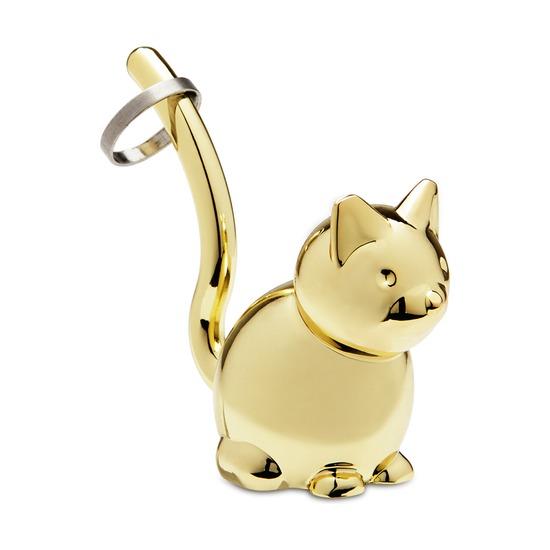 Подставка для колец Zoola, кот, латунь