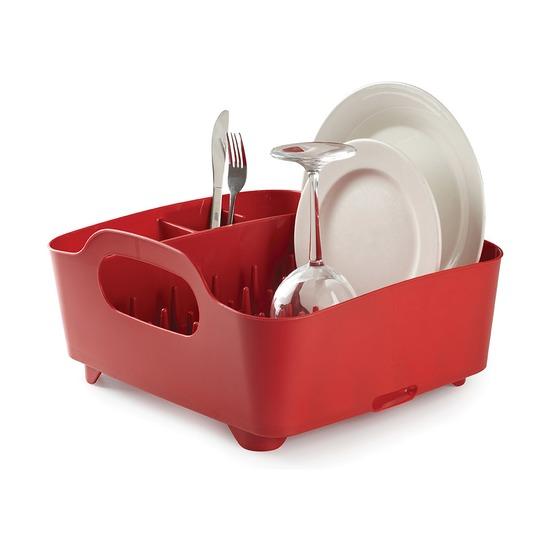 Сушилка для посуды Tub, красная