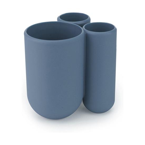 Стакан для зубных щёток Touch, дымчато-синий