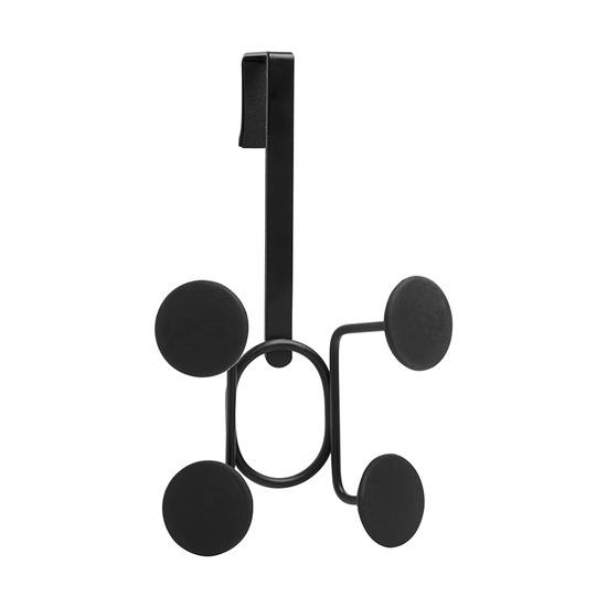 Вешалка надверная Yook на 4 крючка, черная