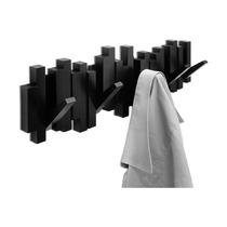 Вешалка Sticks настенная, черная