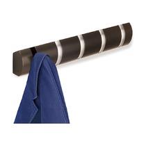Вешалка Flip настенная горизонтальная, 5 крючков, эспрессо