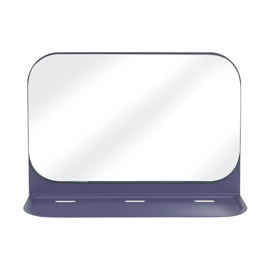 Зеркало с полкой Pose, индиго