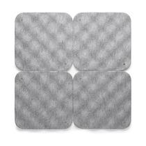 Акустические плитки Hush, 4 штуки, светло-серые