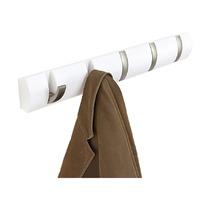 Вешалка Flip настенная горизонтальная, 5 крючков, белая