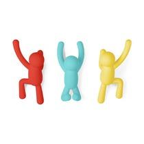Вешалки-крючки Buddy, 3 шт., разноцветные, яркие