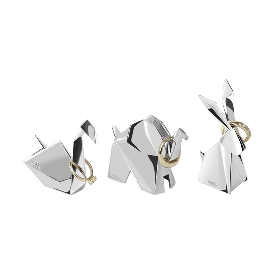 Подставки для колец Origami, 3 штуки, хром