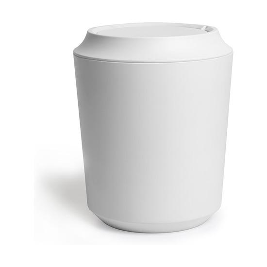 Корзина для мусора Corsa-Kera с крышкой, белая