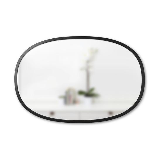 Зеркало овальное Hub, 61 х 91 см, черное