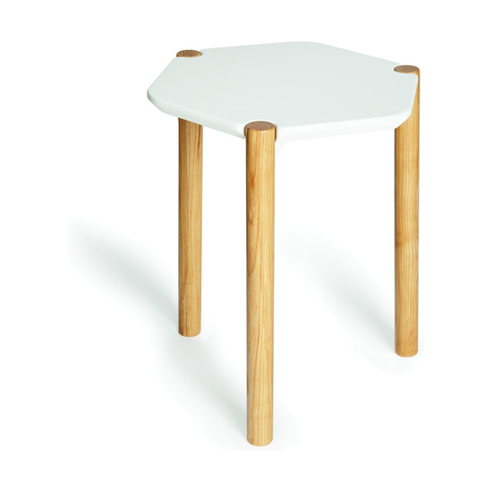 Приставной столик Lexy, белый