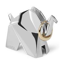 Подставка для колец Origami, слон, хром