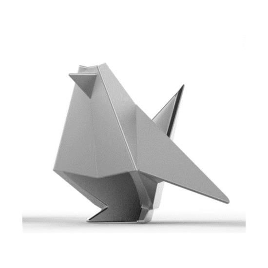 Подставка для колец Origami, птица, хром