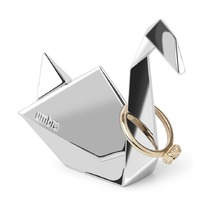 Подставка для колец Origami, лебедь, хром